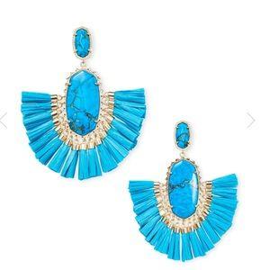 Kendra Scott • Christina Statement Earrings • Aqua